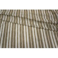 Трикотаж с люрексом в полоску белый-бежевый PRT-K4 26031813
