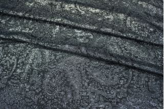 Шелк с люрексом темно-синий LEO-A4 25051814