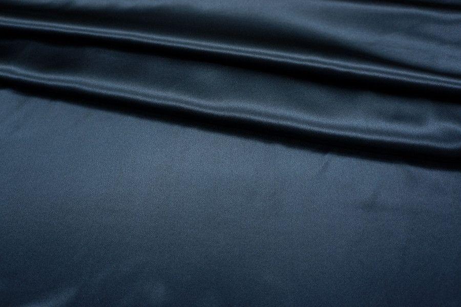 Атлас шелковый темно-синий LEO1-D5 25051819