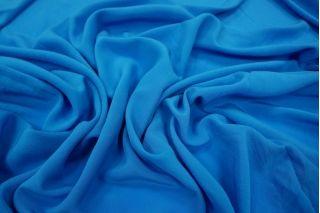 Крепдешин шелковый сине-голубой PRT-D3 31051801