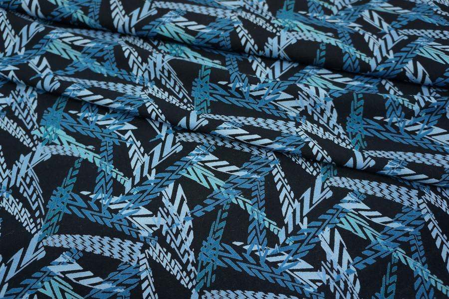 Штапель голубая геометрия UAE-D2 26011810