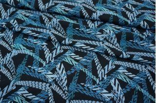 Штапель голубая геометрия UAE D-2 26011810