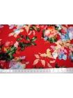Штапель цветы на красном UAE-D2 26011802
