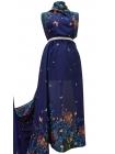 Штапель бабочки на темно-синем КУПОН UAE D-2 26011806