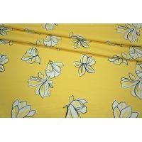 Сатин плательный цветы LEO-A6 28061809