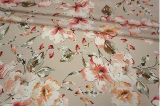 Плательно-блузочный иск.шелк цветы LEO 28061802