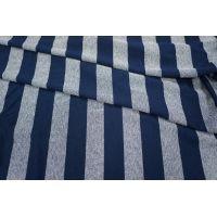 Трикотаж вискозный синий в полоску PRT-R3 28031810