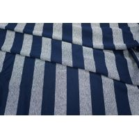 Трикотаж вискозный синий в полоску PRT-Q3 28031810