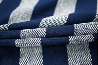 Трикотаж вискозный синий в полоску PRT-K4 28031810