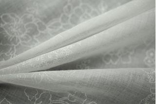 Батист хлопковый белый с принтом LEO1-B3 01061801