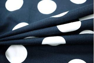Хлопок белый горох на темно-синем LEO1-B6 01061803