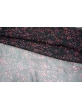 Шифон-креш шелковый цветы PRT1-O2 08021808
