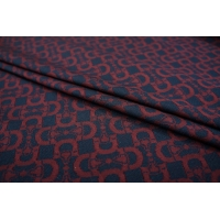 Трикотаж хлопковый сине-бордовый PRT-K4 10081816
