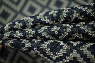 Жаккард с хлопком геометрия темно-синий PRT 046-F2 31081801