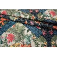 Жаккард с люрексом цветы LEO-F2 23041810