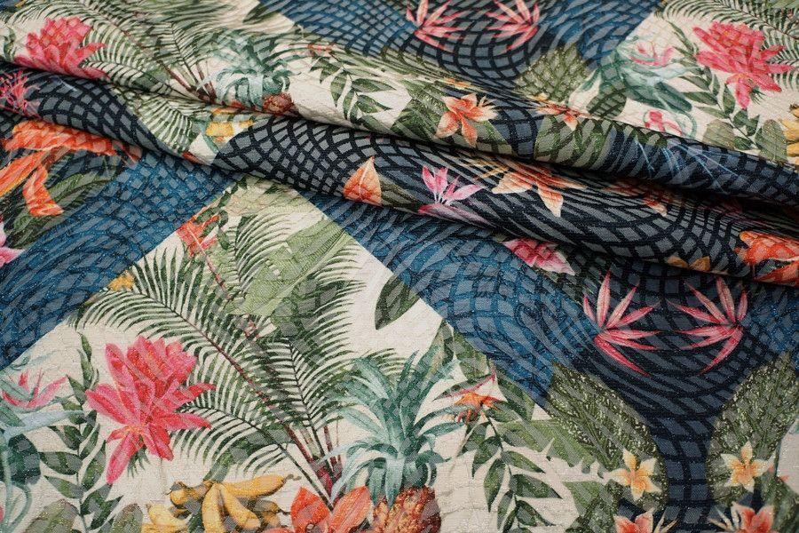 ОТРЕЗ 1.75 М Жаккард с люрексом цветы LEO-F2 23041810-1