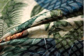 Жаккард с люрексом цветы LEO-D2 23041810