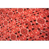 Штапель вискозный орнамент коралловый MX - B2 10071804