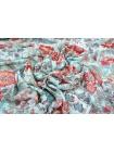 Штапель вискозный цветы на голубом MX1-B2 10071806