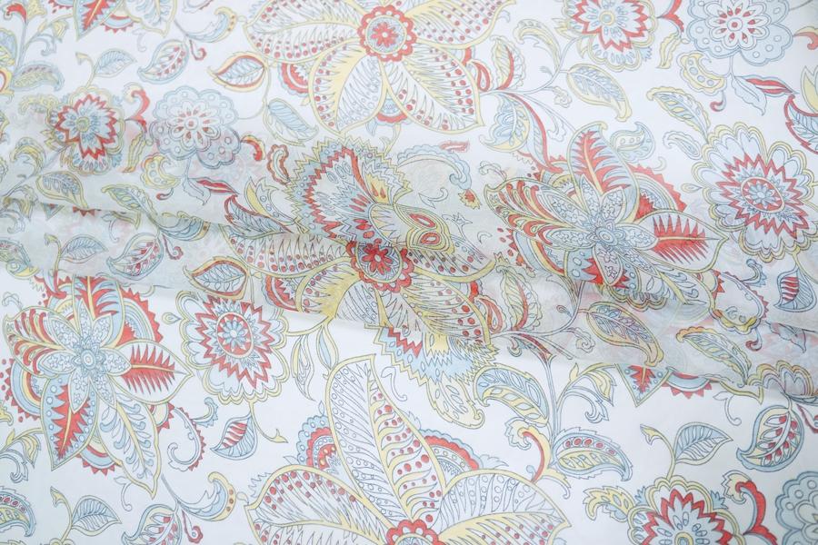 Батист с шелком цветы PRT-Н2 01111804
