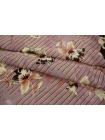 ОТРЕЗ 0,55 М Креповая вискоза цветы на полоске LEO 03091816-7