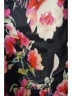ОТРЕЗ 2,1 М Креповая вискоза цветы на на темно-синем LEO 03091817-5
