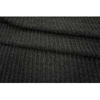 Трикотаж вязаный шерстяной черный PRT-D5 06091802