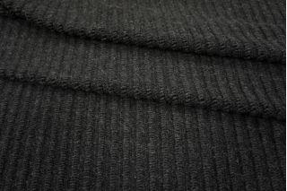 Трикотаж вязаный шерстяной черный PRT-E6 06091802