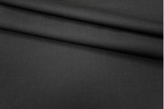 Костюмная шерсть-стрейч черная PRT1-G5 06091815