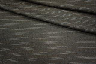 Костюмная шерсть темно-коричневая в полоску Carnet PRT-L3 10091802