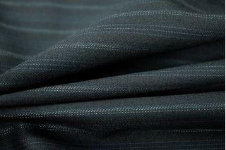 Костюмная шерсть темно-синяя в полоску Carnet PRT-L3 10091808