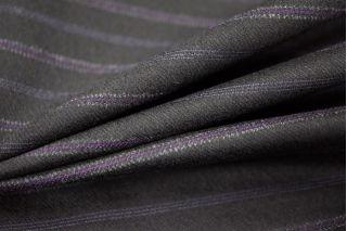 Костюмная шерсть темно-коричневая в полоску PRT-L4 10091811