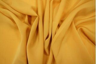 Крепдешин шелковый золотисто-горчичный PRT1-D4 01111801