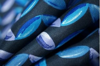 Шелк орнамент на темно-синем КУПОН PRT-Н3 03111847