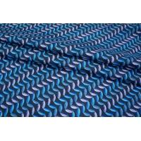 Шелк орнамент на темно-синем КУПОН PRT-E6 03111847