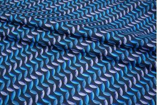 Шелк орнамент на темно-синем КУПОН PRT-D3 03111847