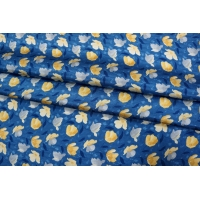 Жаккард шелковый цветы желтые КУПОН PRT-D4 03111840