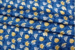 Жаккард шелковый цветы желтые КУПОН PRT-D3 03111840