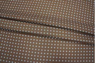 Шерсть с шелком ромбы на коричневом КУПОН PRT-D3 03111845