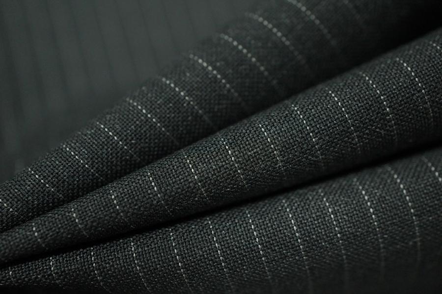 Костюмная шерсть серая в полоску PRT-j3 18091803