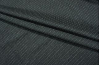 Костюмная шерсть темно-серая в полоску Dormeuil PRT-L5 18091805