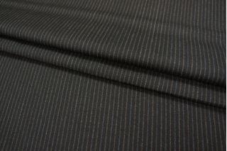 Костюмная шерсть черная в полоску PRT-L5 18091814