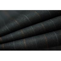 ОТРЕЗ 2,15 М Костюмная шерсть черная в полоску PRT-L5 18091815-1