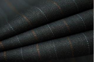 Костюмная шерсть черная в полоску PRT-L5 18091815