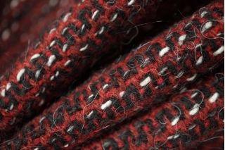 Шерстяная шанель бордово-черная PRT-L2 01111873