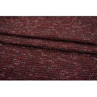 ОТРЕЗ 2,1 М Шерстяная шанель бордово-черная PRT-L2 01111873-1
