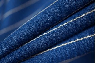 Нарядный костюмный хлопок синий PRT-Q3 02111833