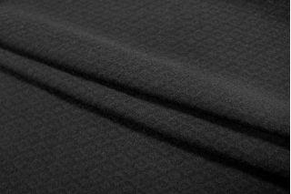 Шерсть фактурная черная ромбы PRT-F5 27091802