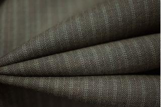 Костюмная шерсть темно-коричневая в полоску Carnet PRT-L3 25091808