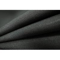 Костюмная шерсть-стрейч черная PRT-L4 25091819